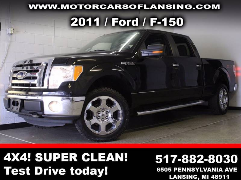 2011 FORD F-150 XLT 4X4 4DR SUPERCREW STYLESIDE black  3 month 4000 mile limited powertrain wa