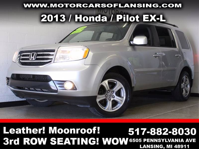 2013 HONDA PILOT EX-L 4X4 4DR SUV silver  3 month 3000 mile limited powertrain warranty is ava