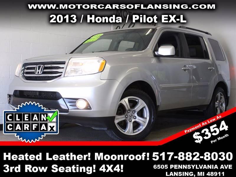 2013 HONDA PILOT EX-L 4X4 4DR SUV silver  3 month 3000 mile limited powertrain warranty is ava