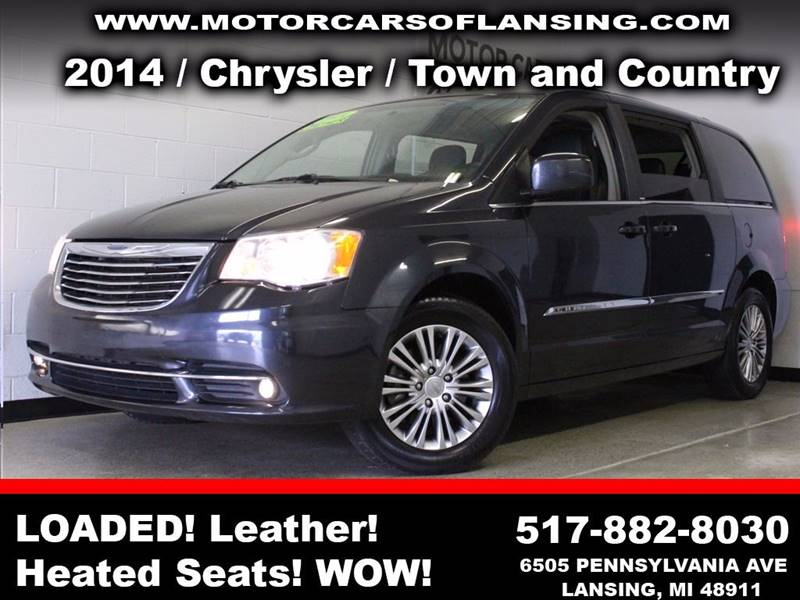 2014 CHRYSLER TOWN AND COUNTRY TOURING-L 4DR MINI VAN black  3 month 3000 mile limited powertr