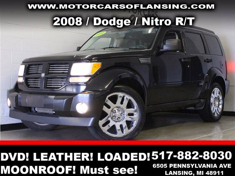 2008 DODGE NITRO RT 4WD 4DR SUV black  3 month 3000 mile limited powertrain warranty is avail