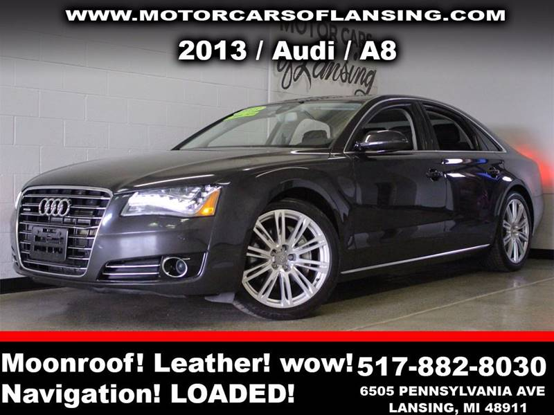 2013 AUDI A8 30T QUATTRO AWD 4DR SEDAN charcoal guaranteed credit approval all customers are wel