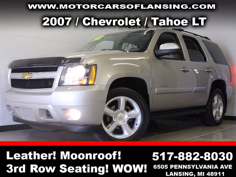 2007 CHEVROLET TAHOE LT 4DR SUV 4WD silver  3 month 3000 mile limited powertrain warranty is a