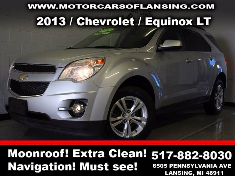 2013 CHEVROLET EQUINOX LT AWD 4DR SUV W 2LT silver moonroofrear view camera    3 month 3000