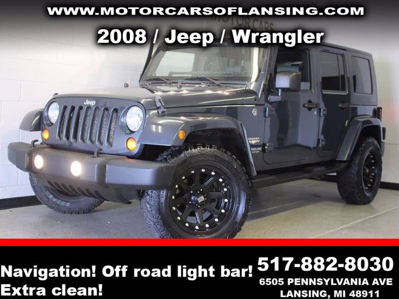 2008 JEEP WRANGLER UNLIMITED SAHARA 4X4 4DR SUV gray be sure to check back soon for details on th
