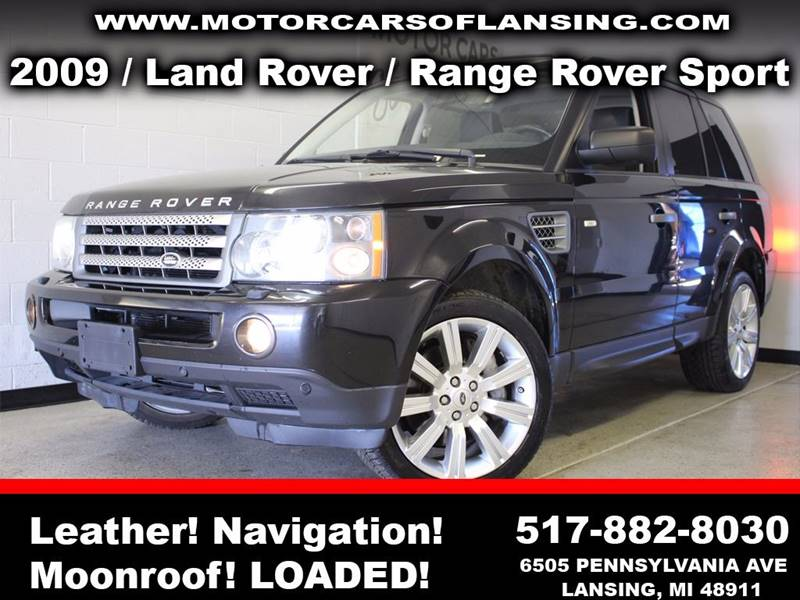 2009 LAND ROVER RANGE ROVER SPORT SUPERCHARGED 4X4 4DR SUV black feel confident where you travel i
