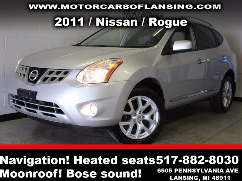 2011 NISSAN ROGUE S AWD 4DR CROSSOVER silver leathernavigationmoonroofbe sure to check back so