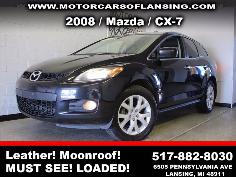 2008 MAZDA CX-7 GRAND TOURING 4DR SUV black sunroof leather wow this vehicle is loaded   all c