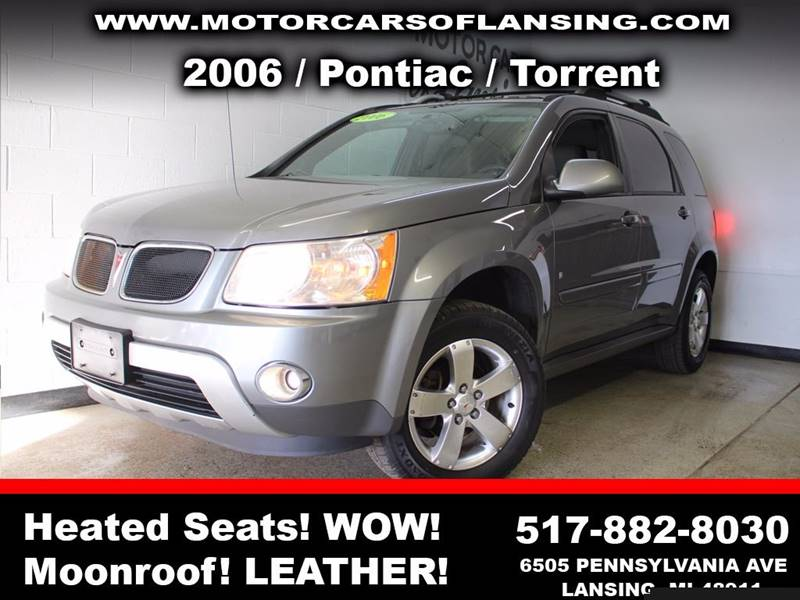 2006 PONTIAC TORRENT BASE AWD 4DR SUV gray sunroof leather wow this vehicle is loaded   all cus