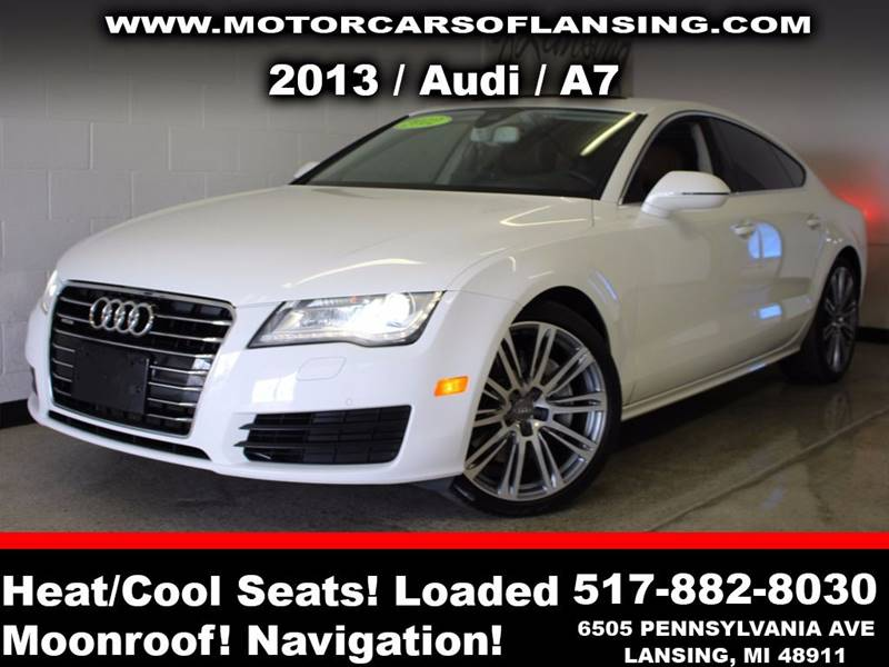 2013 AUDI A7 30T QUATTRO PREMIUM PLUS AWD 4D white is available in asking price   guaranteed cre