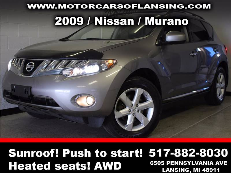 2009 NISSAN MURANO S AWD 4DR SUV silver never back into anything again this vehicle is equipped