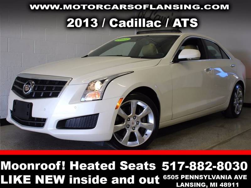 2013 CADILLAC ATS 36L LUXURY AWD 4DR SEDAN white  3 month 3000 mile limited powertrain warran