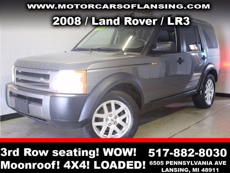 2008 LAND ROVER LR3 SE 4X4 4DR SUV charcoal third row seating  3 month 3000 mile limited power