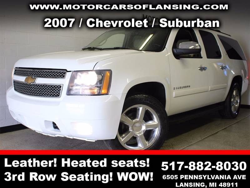 2007 CHEVROLET SUBURBAN LTZ 1500 4DR SUV 4WD white leather 3 month 3000 mile limited powertrain