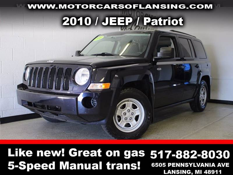2010 JEEP PATRIOT SPORT 4DR SUV black  3 month 3000 mile limited powertrain warranty is availa