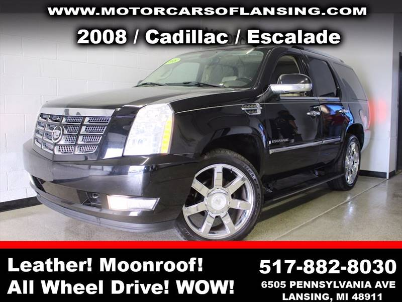 2008 CADILLAC ESCALADE BASE AWD 4DR SUV black  3 month 3000 mile limited powertrain warranty i