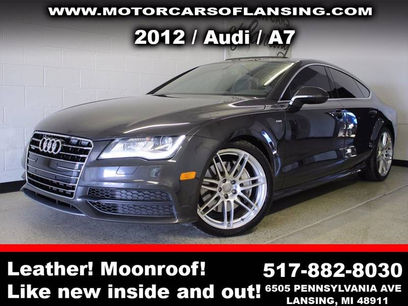 2012 AUDI A7 30T QUATTRO PRESTIGE AWD 4DR SE charcoal sunroof leather wow this vehicle is load