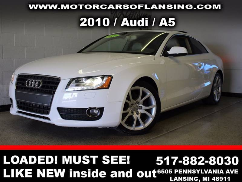 2010 AUDI A5 20T QUATTRO PREMIUM PLUS AWD 2D white  3 month 3000 mile limited powertrain warr