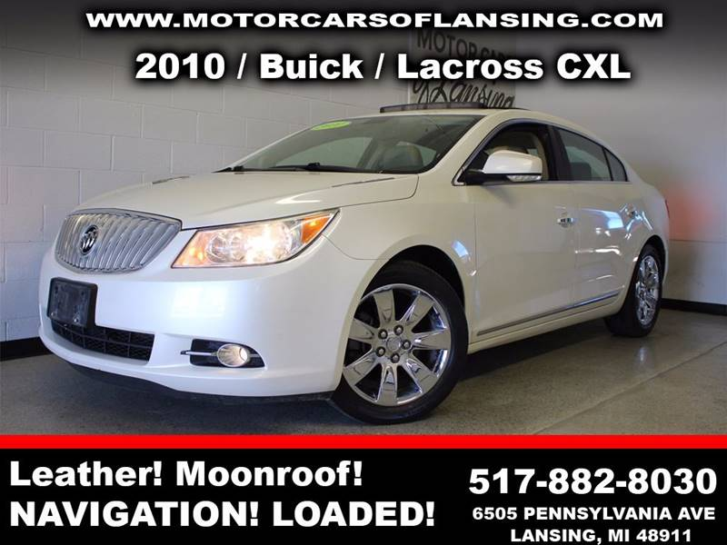 2010 BUICK LACROSSE CXL 4DR SEDAN pearl moonroofchrome wheelsfeel confident where you travel in