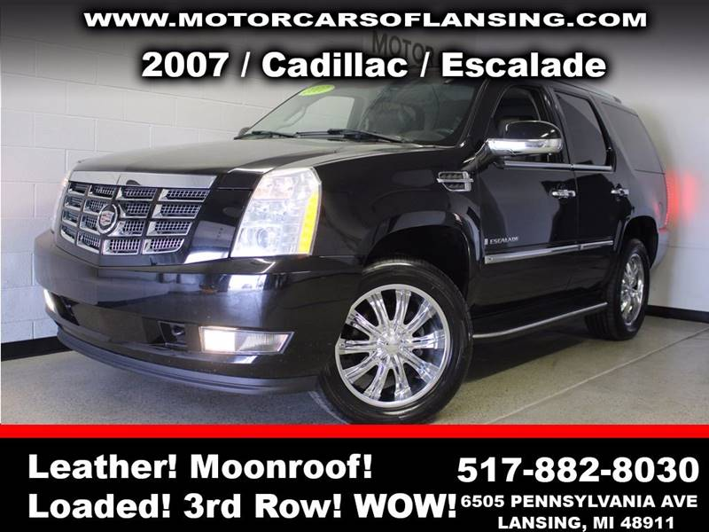 2007 CADILLAC ESCALADE BASE AWD 4DR SUV black awd leather sunroof  3 month 4000 mile limite