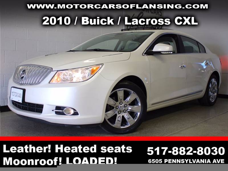 2010 BUICK LACROSSE CXL 4DR SEDAN white  3 month 3000 mile limited powertrain warranty is avai
