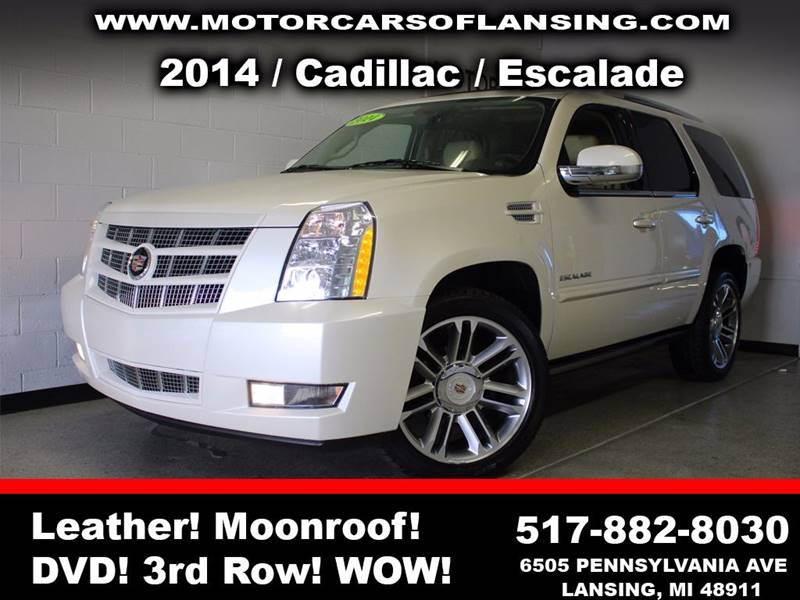 2014 CADILLAC ESCALADE PREMIUM AWD 4DR SUV white sunroof leather wow this vehicle is loaded