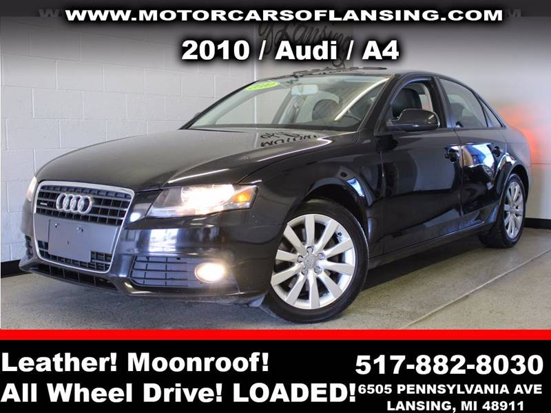 2010 AUDI A4 20T QUATTRO PREMIUM AWD 4DR SED black sunroof leather wow this vehicle is loaded
