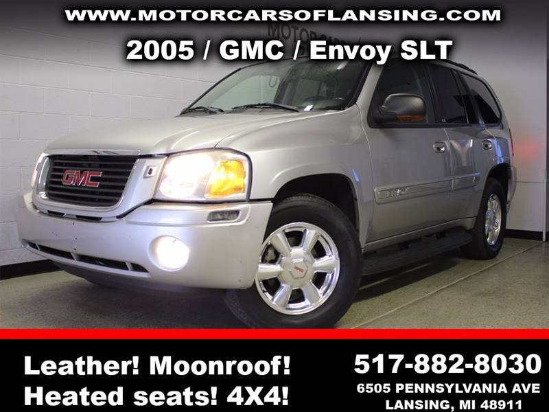2005 GMC ENVOY SLT 4WD 4DR SUV silver sunroof leather wow this vehicle is loaded   all custome