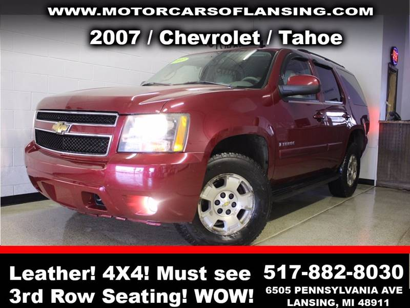2007 CHEVROLET TAHOE LT 4DR SUV 4WD burgundy guaranteed credit approval  all customers are welcom