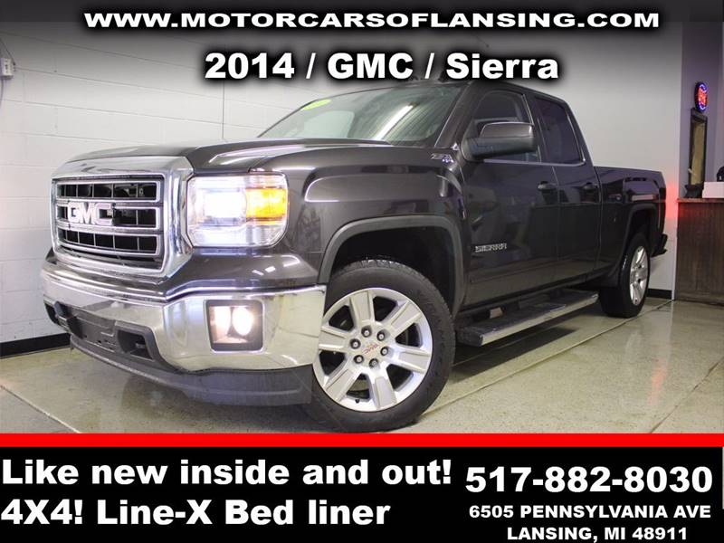 2014 GMC SIERRA 1500 SLE 4X4 4DR DOUBLE CAB 65 FT S charcoal guaranteed credit approval  all cus