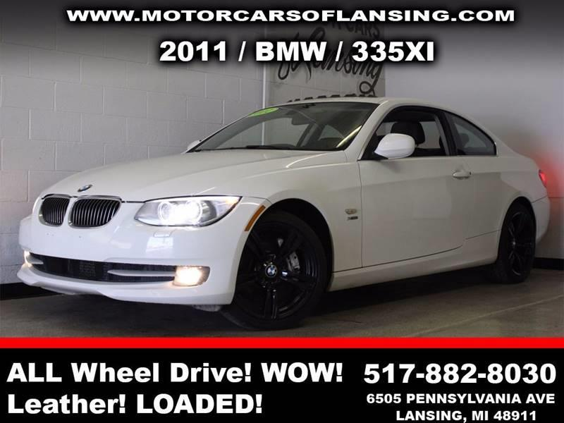 2011 BMW 3 SERIES 335I XDRIVE AWD 2DR COUPE white  3 month 3000 mile limited powertrain warran