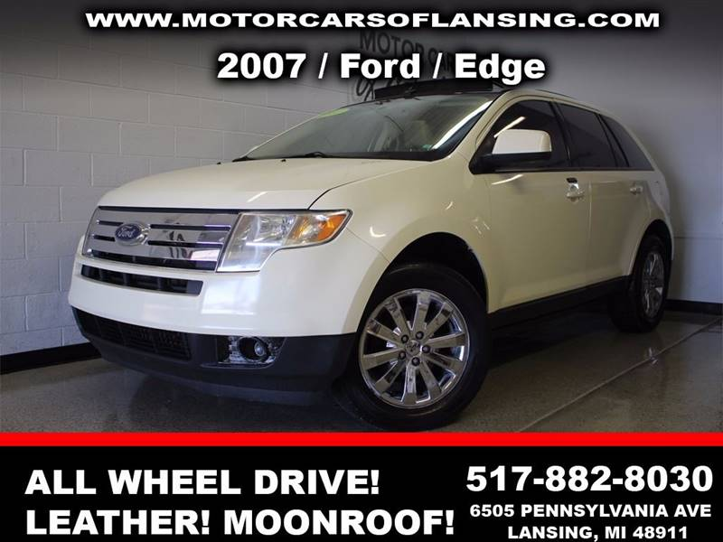 2007 FORD EDGE SEL PLUS AWD 4DR SUV white sunroof leather wow this vehicle is loaded   all cus