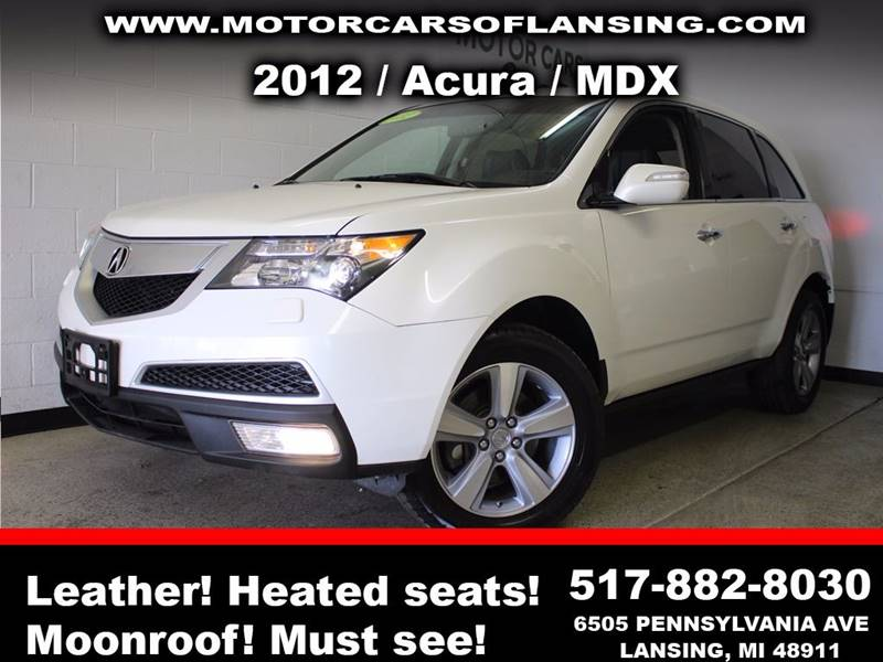 2012 ACURA MDX SH-AWD 4DR SUV white sunroof leather wow this vehicle is loaded   all customers