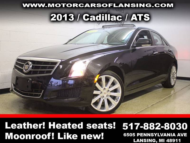 2013 CADILLAC ATS 20T LUXURY AWD 4DR SEDAN black sunroof leather wow this vehicle is loaded