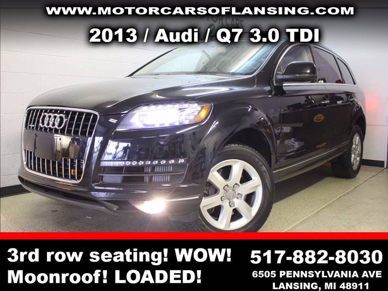2013 AUDI Q7 30 QUATTRO TDI PREMIUM AWD 4DR black sunroof leather wow this vehicle is loaded