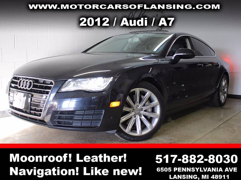 2012 AUDI A7 30T QUATTRO PREMIUM AWD 4DR SED black sunroof leather wow this vehicle is loaded