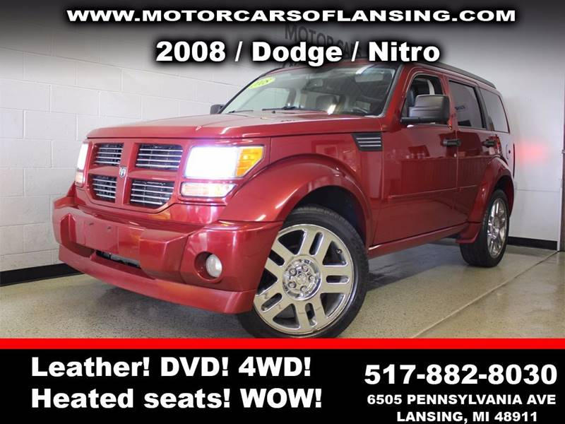 2008 DODGE NITRO RT 4WD 4DR SUV burgundy dvdsunroof leather wow this vehicle is loaded   all