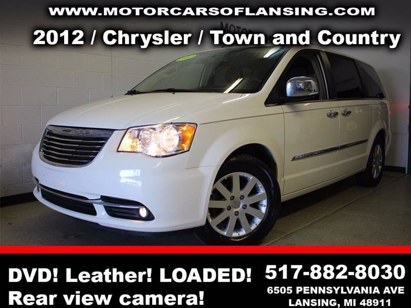 2012 CHRYSLER TOWN AND COUNTRY TOURING-L 4DR MINI VAN white leather  all customers are welcome to