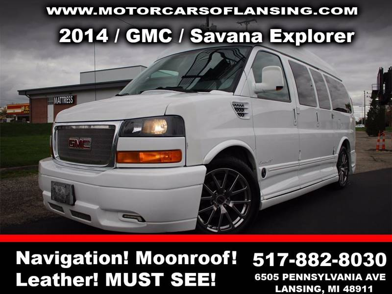 2014 GMC SAVANA CARGO 1500 3DR CARGO VAN white sunroof leather wow this vehicle is loaded   fe