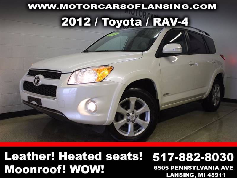2012 TOYOTA RAV4 LIMITED 4X4 4DR SUV white sunroof leather wow this vehicle is loaded   all cu