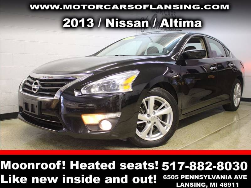 2013 NISSAN ALTIMA 25 SV 4DR SEDAN black sunroof  wow this vehicle is loaded   all customers a