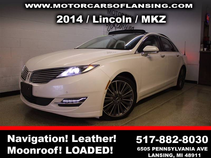 2014 LINCOLN MKZ BASE AWD V6 4DR SEDAN white sunroof leather wow this vehicle is loaded   feel