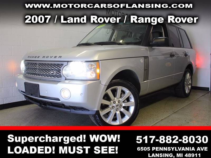 2007 LAND ROVER RANGE ROVER SUPERCHARGED 4DR SUV 4WD silver sunroof leather wow this vehicle is