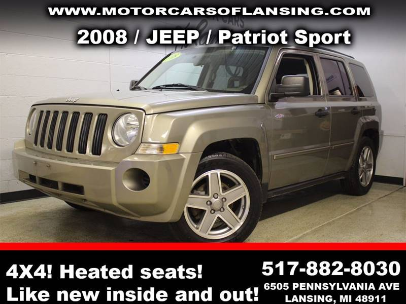 2008 JEEP PATRIOT SPORT 4X4 4DR SUV WCJ1 SIDE AIR pewter drive comfortably this winter with heat