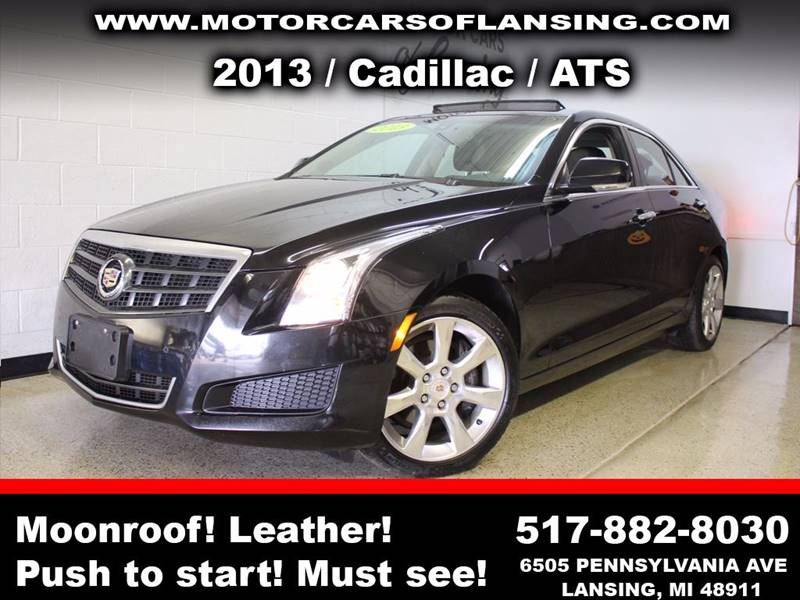 2013 CADILLAC ATS 36L LUXURY AWD 4DR SEDAN black sunroof leather wow this vehicle is loaded