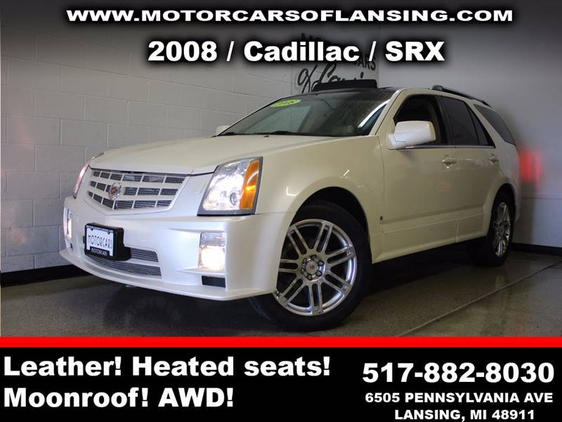 2008 CADILLAC SRX V8 AWD 4DR SUV white sunroof leather wow this vehicle is loaded   feel confi