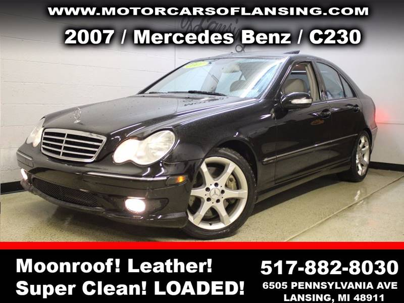 2007 MERCEDES-BENZ C-CLASS C230 SPORT 4DR SEDAN black sunroof leather wow this vehicle is loaded