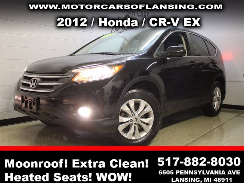 2012 HONDA CR-V EX AWD 4DR SUV black sunroof  guaranteed credit approval  all customers are welco