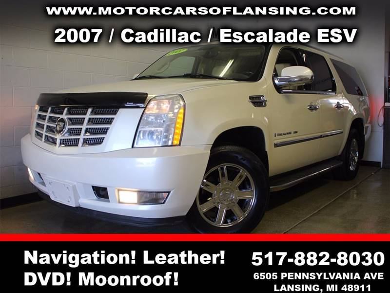 2007 CADILLAC ESCALADE ESV BASE AWD 4DR SUV pearl sunroof leather wow this vehicle is loaded