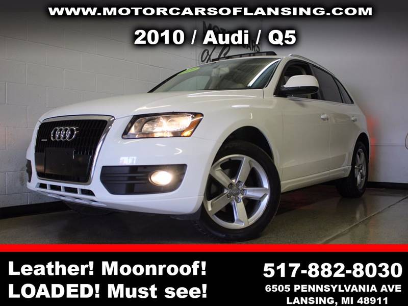 2010 AUDI Q5 32 QUATTRO PREMIUM AWD 4DR SUV white sunroof leather wow this vehicle is loaded